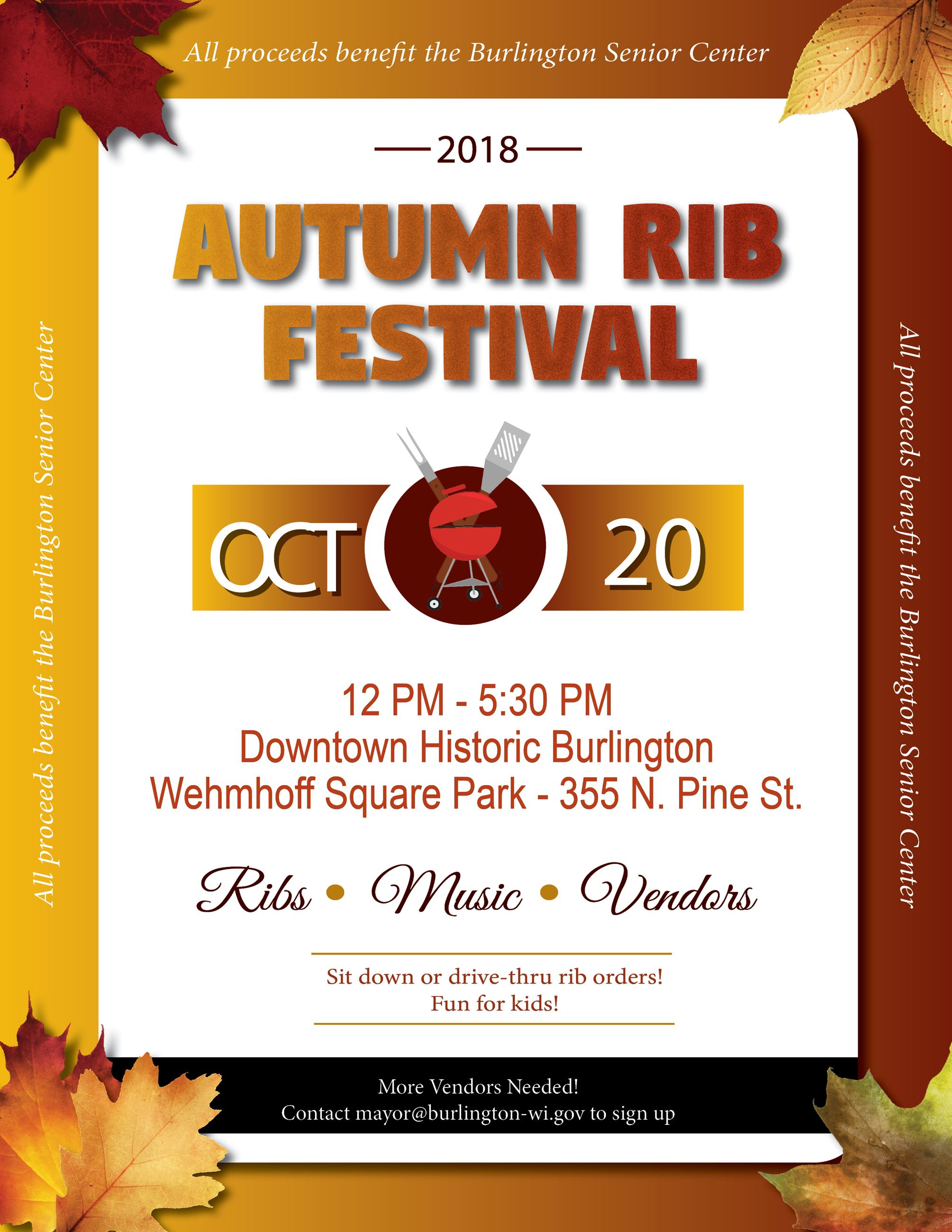Autumn Fest - Oct 22, 2018 - Ribs
