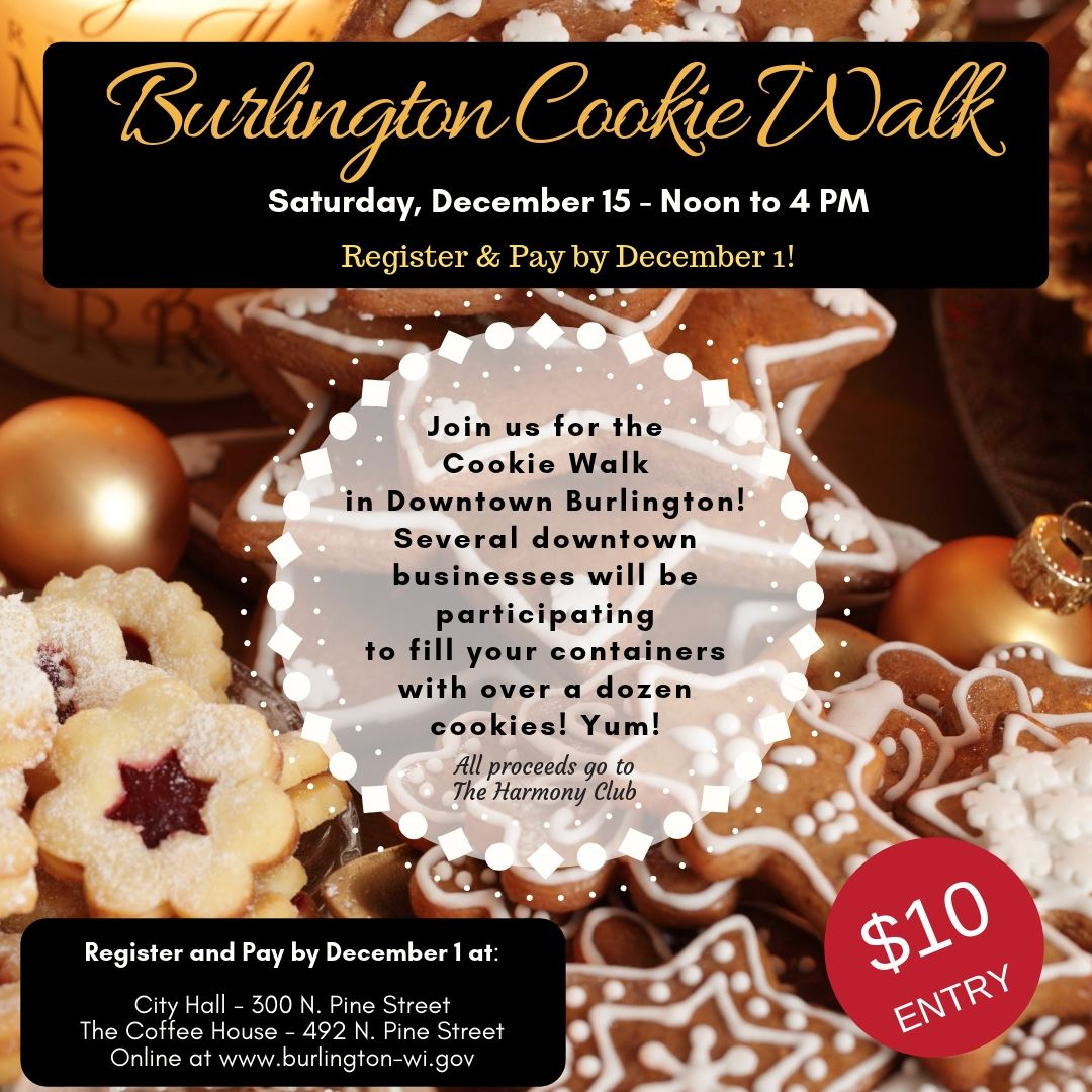 Burlington Cookie Walk Ad - 11.15