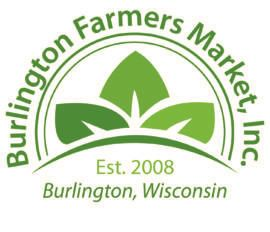 burlington farmers market logo white